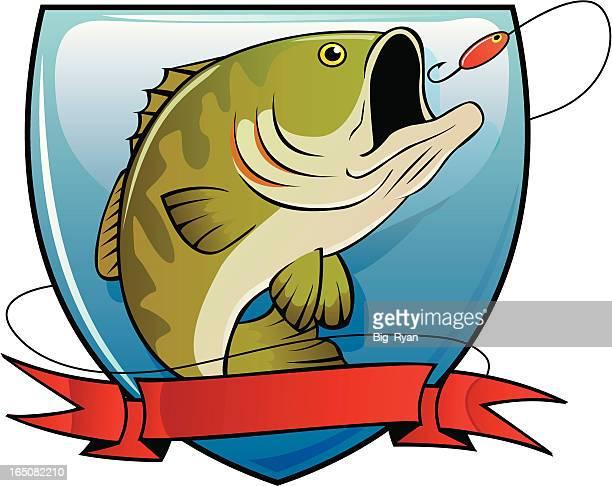 bass fishing - bass fishing stock illustrations