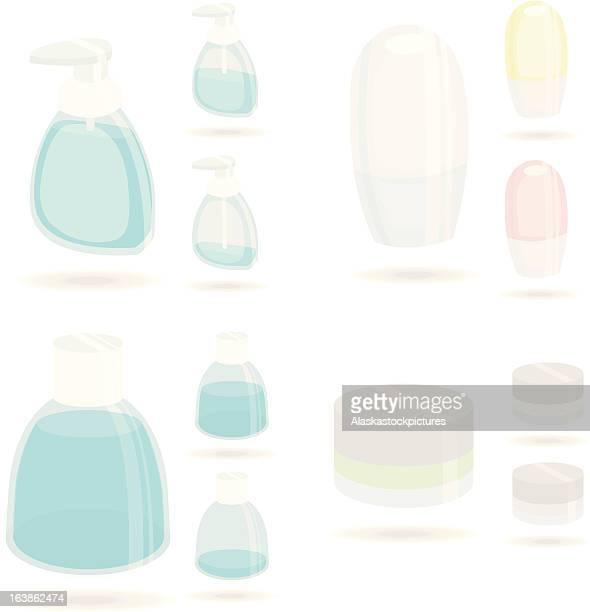bath articels - mouthwash stock illustrations