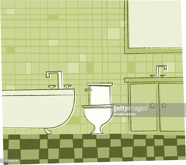 bathroom - bathroom stock illustrations, clip art, cartoons, & icons