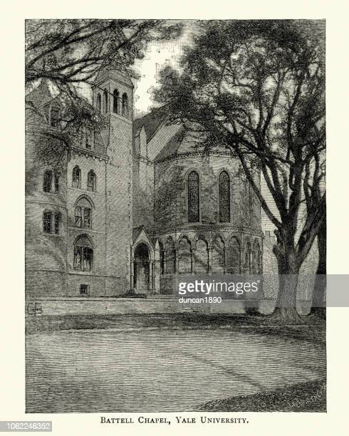Battell Chapel, Yale University in New Haven, Connecticut 19th Century