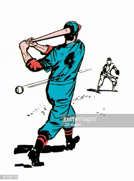 bildbanksillustrationer, clip art samt tecknat material och ikoner med batter - basebollslag