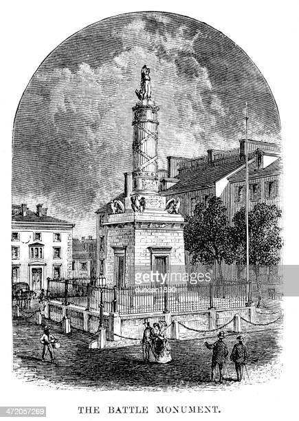 battle monument, baltimore - baltimore maryland stock illustrations, clip art, cartoons, & icons