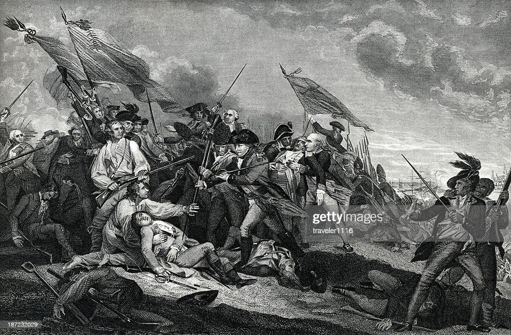 Battle Of Bunker Hill : stock illustration