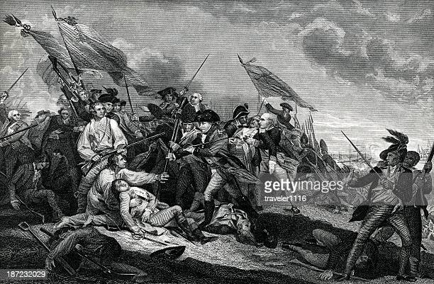 battle of bunker hill - independence stock illustrations