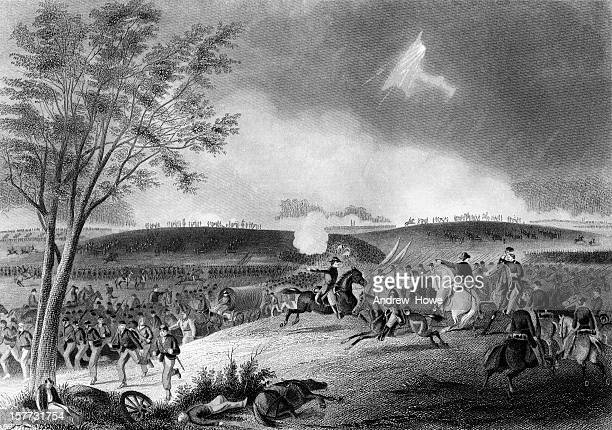 battle of chancellorsville - american civil war - american civil war stock illustrations