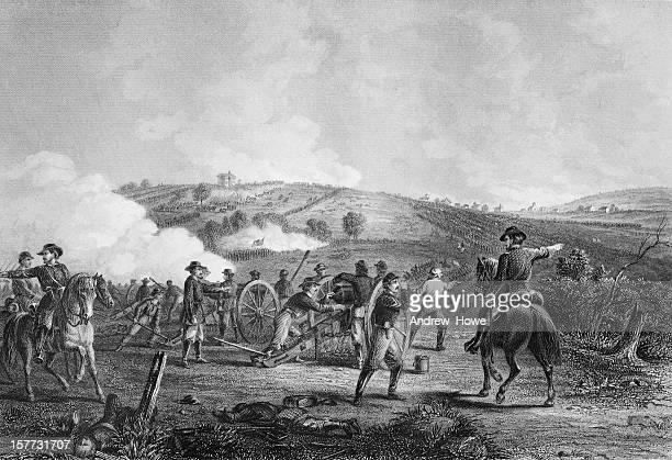 battle of gettysburg - war stock illustrations