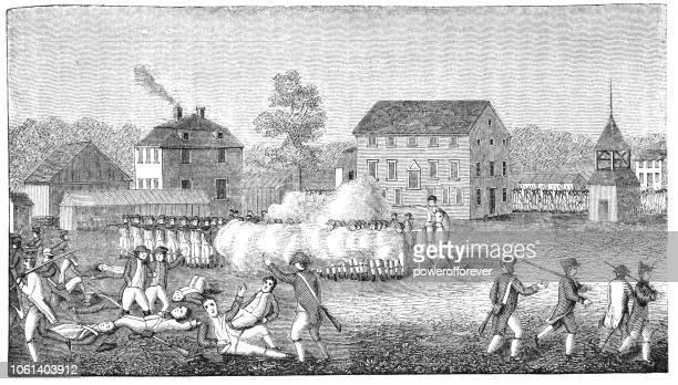 Battle of Lexington in Massachusetts, USA (1775)