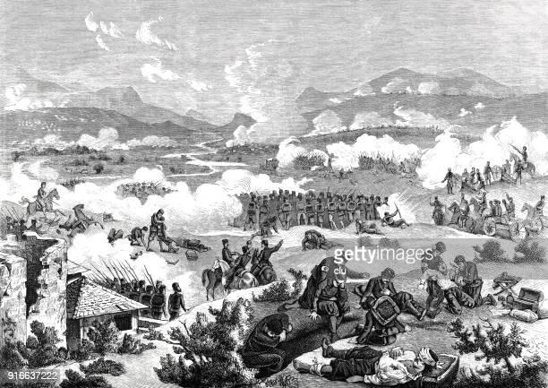 battle of mramor - 1877 stock illustrations, clip art, cartoons, & icons