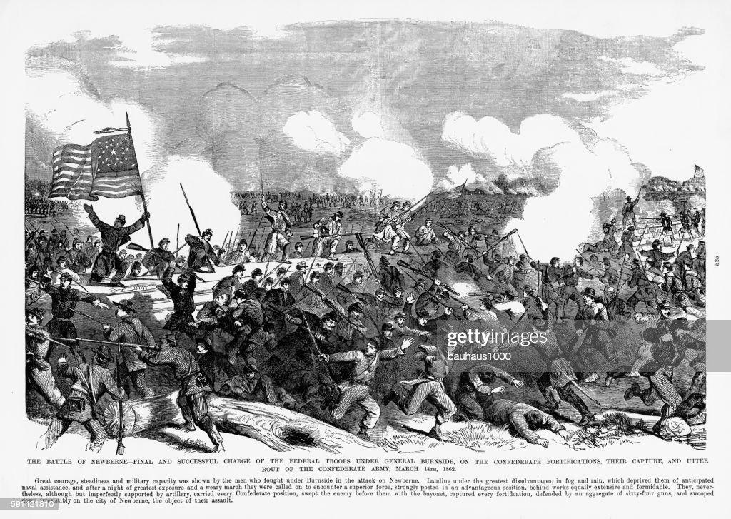 Battle Of New Bern North Carolina 1862 Civil War Engraving ... on battle of fredericksburg 1862, battle of tampa 1862, battle of kinston 1862, battle of roanoke island 1862, battle of fort macon 1862, battle of camden 1862, battle of winchester 1862,