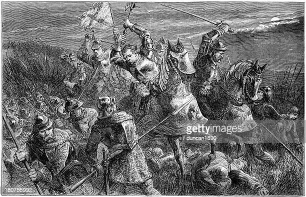 battle of otterburn 1388 - northeastern england stock illustrations, clip art, cartoons, & icons