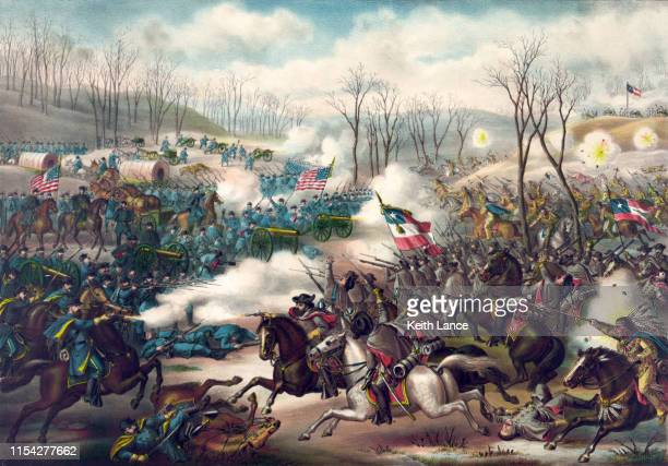 ピーリッジの戦い、1862 - 内戦点のイラスト素材/クリップアート素材/マンガ素材/アイコン素材