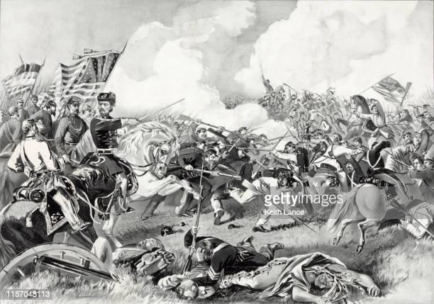 battle of pea ridge, 1862 - 19th century stock illustrations