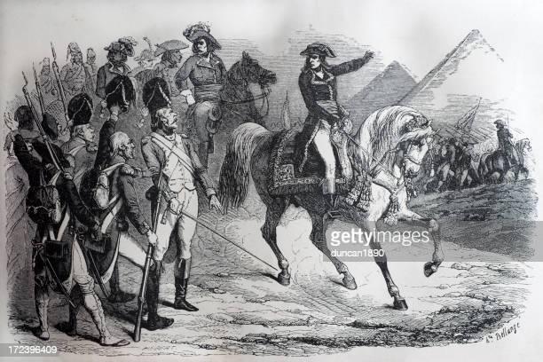 battle of the pyramids - cavalier cavalry stock illustrations, clip art, cartoons, & icons