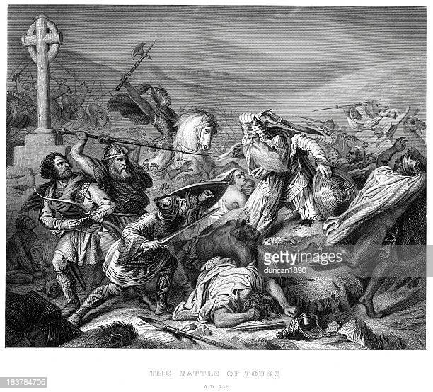 battle of tours - 8th century bc stock illustrations, clip art, cartoons, & icons