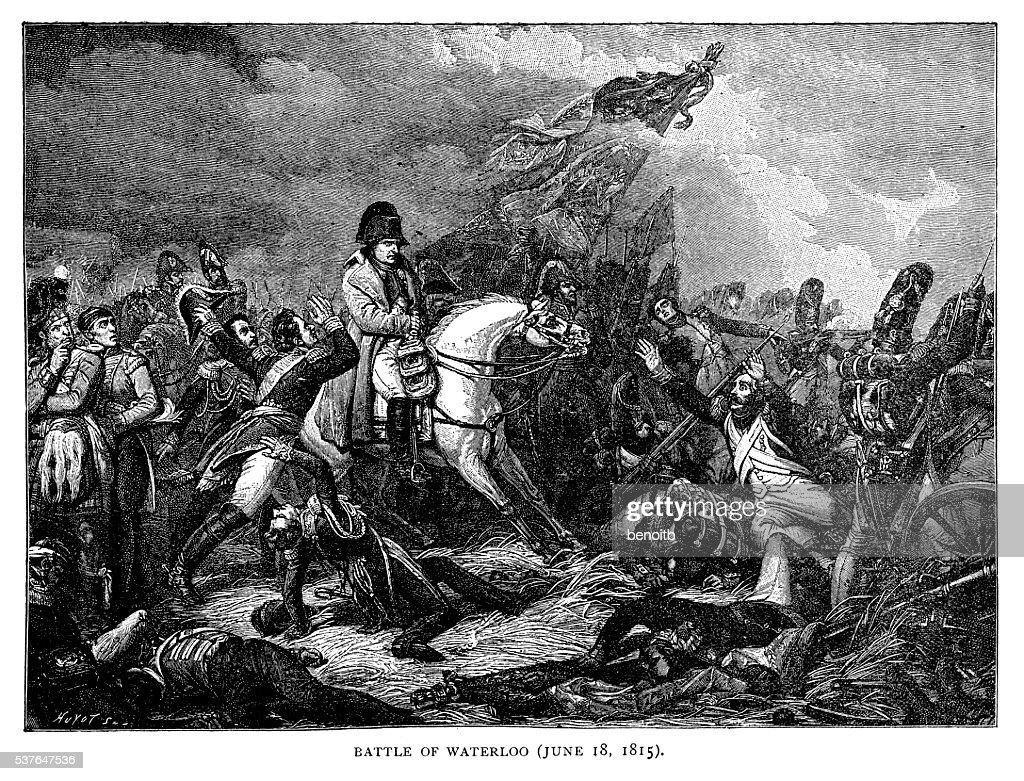 Battle of Waterloo : stock illustration