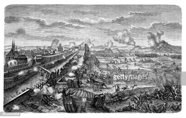 battle on the lesser town of prague. - ancient civilization stock illustrations, clip art, cartoons, & icons