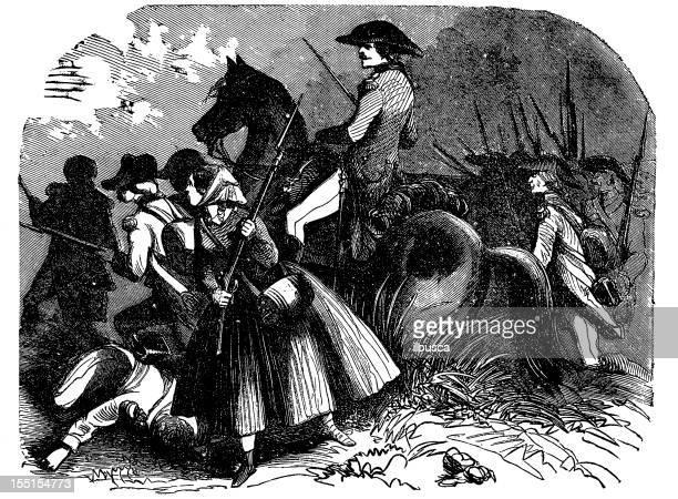 battle scene - cavalier cavalry stock illustrations, clip art, cartoons, & icons