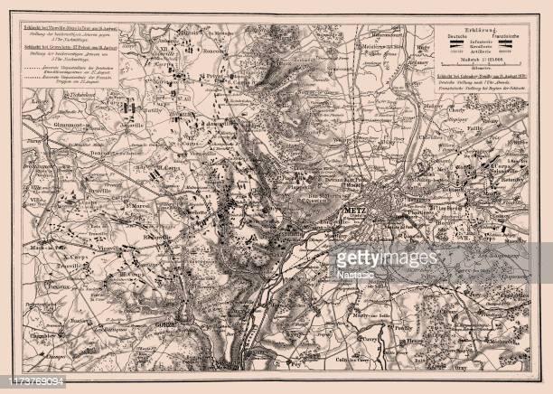 battles near metz, franco-prussian war in 1870 - lorraine stock illustrations, clip art, cartoons, & icons