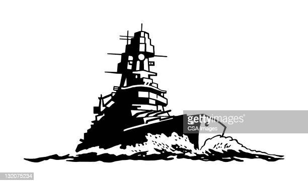 battleship - battleship stock illustrations
