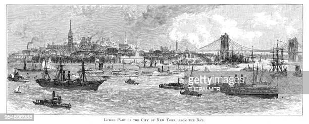 Bay of New York engraving 1881