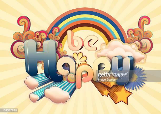 be happy illustration - glücklichsein stock-grafiken, -clipart, -cartoons und -symbole