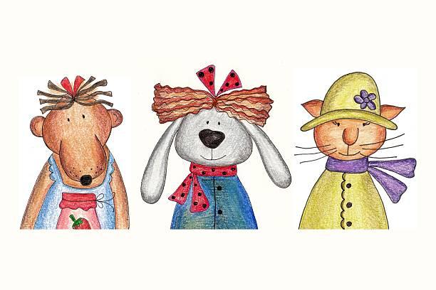 Bear, bunny and cat