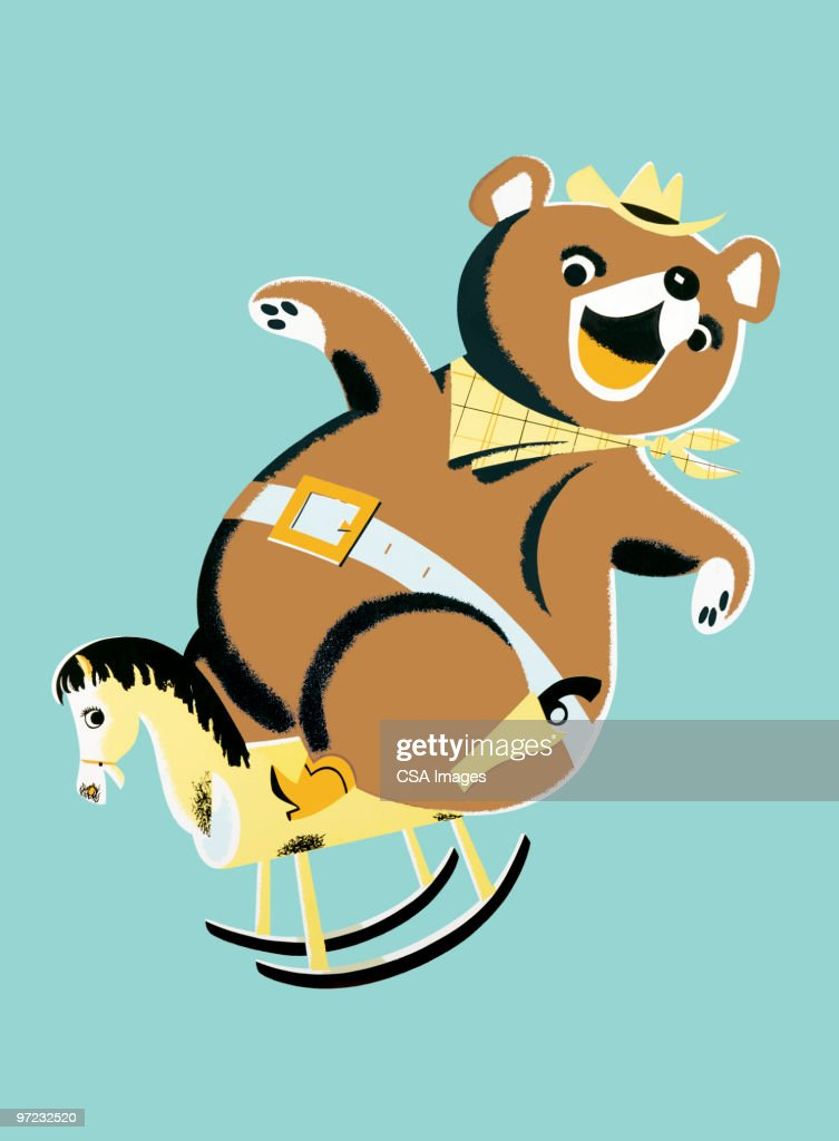 Bear On Rocking Horse High Res Vector Graphic Getty Images