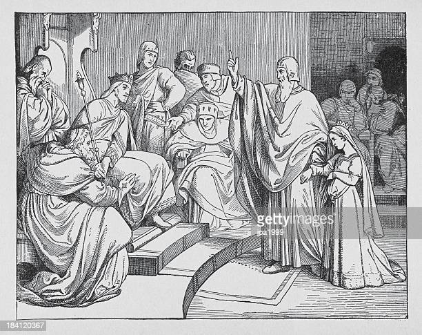 beatrice of hohenstaufen brought to otto iv - empress stock illustrations, clip art, cartoons, & icons