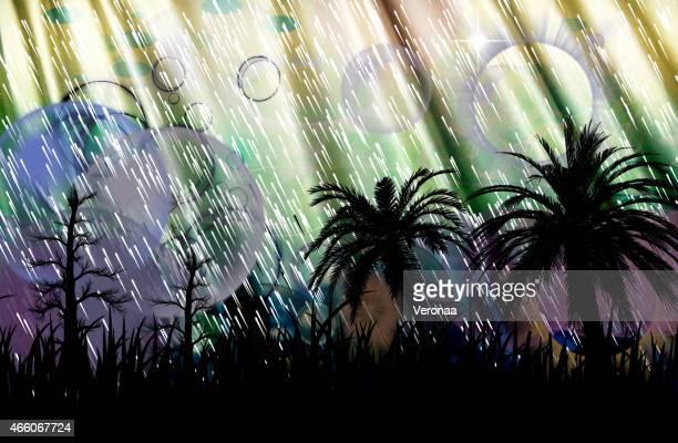 beautiful background with season rain - monsoon stock illustrations, clip art, cartoons, & icons