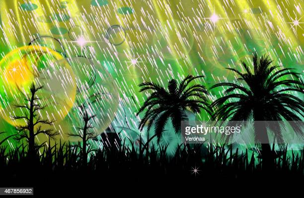 beautiful background with sunset - monsoon stock illustrations, clip art, cartoons, & icons