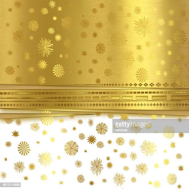 Beautiful golden and white Holiday background