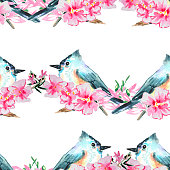 beautiful hand painted spring background with