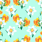 beautiful spring floral background with bright