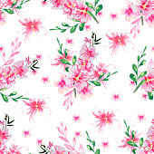 beautiful spring floral background with delicate