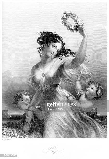ilustrações de stock, clip art, desenhos animados e ícones de bela jovem mulher vitoriano-esperança - mulheres jovens