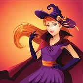 beauty Halloween witch