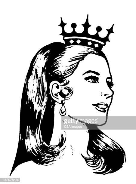 beauty queen - beauty contest stock illustrations