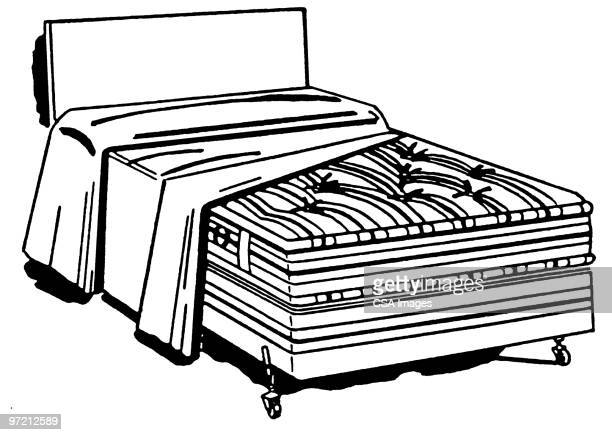 bed - image stock illustrations
