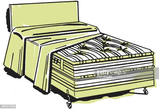bed - mattress stock illustrations, clip art, cartoons, & icons