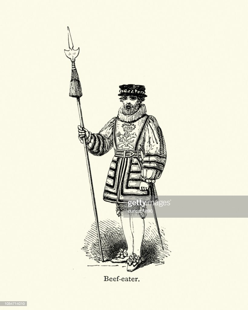 Beefeater, Yeomen Warders 19th Century : stock illustration