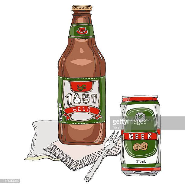 Beer Bottle And Can