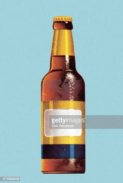 beer bottle - stag night stock illustrations, clip art, cartoons, & icons