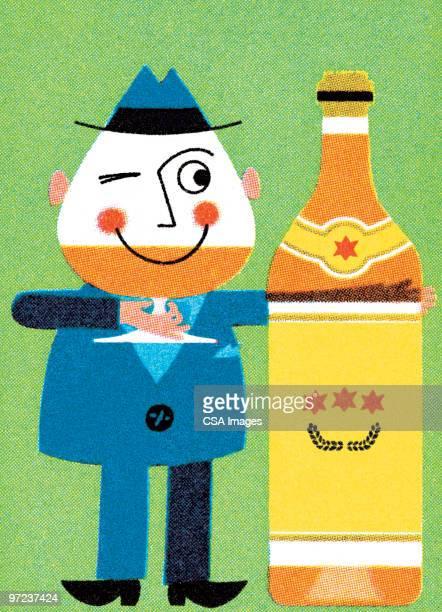 beer drinker - brandy stock illustrations, clip art, cartoons, & icons