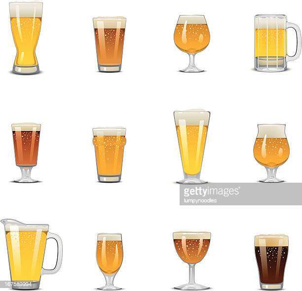 beer icons - beer alcohol stock illustrations, clip art, cartoons, & icons