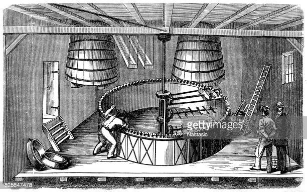 beer production  ,large tun - brewery stock illustrations, clip art, cartoons, & icons