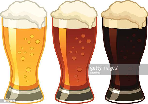 beers - beer glass stock illustrations, clip art, cartoons, & icons