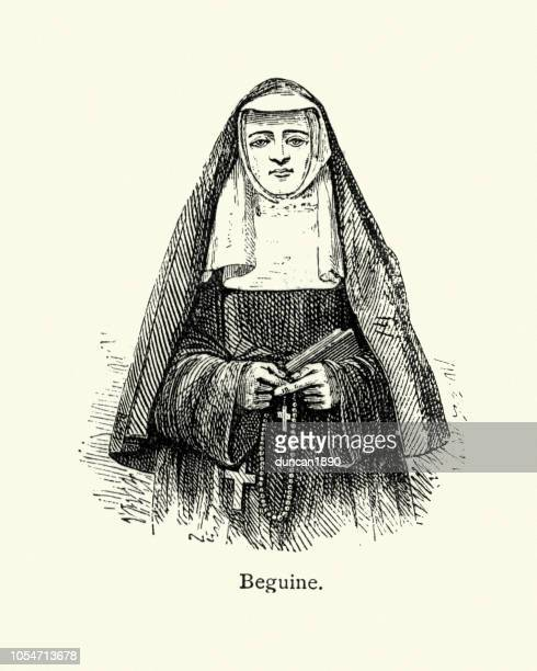 beguine nun - nun stock illustrations