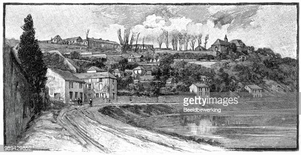 bel air charleville-mezieres  on the meuse in the ardennes  in 1895 - champagne region stock illustrations, clip art, cartoons, & icons