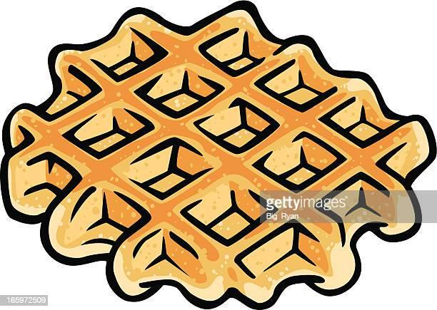 belgium waffle - waffle stock illustrations