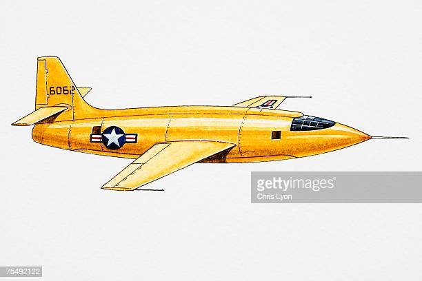 bell x-1, naca-u.s. army air forces/us air force, supersonic aircraft - us air force stock illustrations, clip art, cartoons, & icons